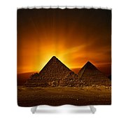 Pyramids Sunset Shower Curtain