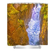 Pyrenees Spanish Bridge Waterfall Shower Curtain