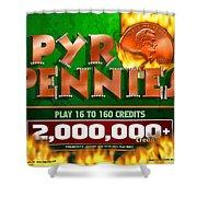 Pyro Pennies Shower Curtain
