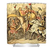 Pyrrhus Arrives In Italy With His Troupe Shower Curtain