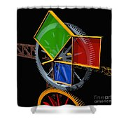 Pythagorean Machine Shower Curtain by Russell Kightley