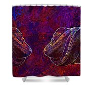 Python Snake Green Tree Python  Shower Curtain