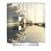 Q-city Four Shower Curtain