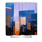 Q-city One Shower Curtain