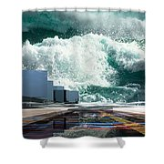 Q-city Seven Shower Curtain