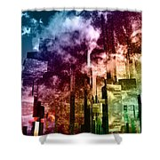 Q-city Three Shower Curtain