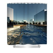 Q-city Two Shower Curtain
