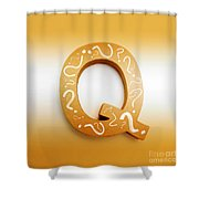 Q For Education And Learning Shower Curtain