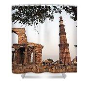 Qtub Minar, New Delhi India Shower Curtain
