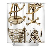Quadrants And Sextant, 1790 Shower Curtain