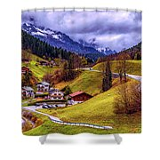Quaint Bavarian Village Shower Curtain