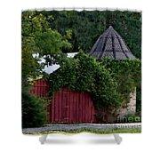 Quaint Red Barn  Shower Curtain