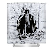 Quaker Pilgrim Shower Curtain by Bill Cannon