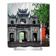 Quan Thanh Temple Gate Shower Curtain
