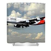 Quantas Boeing 747 Shower Curtain