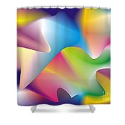 Quantum Landscape 2 Shower Curtain
