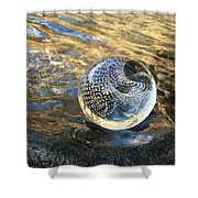Orion With Blue And Gold Shower Curtain