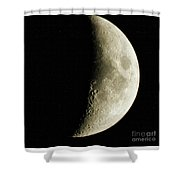 Quarter Moon Photo By W G  Smith Shower Curtain