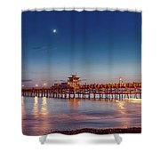 Quarter The Moon Shower Curtain