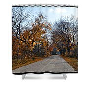 Quarterline Road Shower Curtain