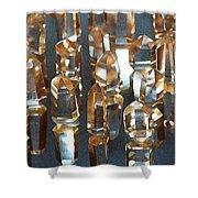 Quartz Crystal Collection Shower Curtain
