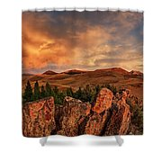 Quartzite Formations Shower Curtain