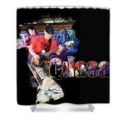 Quasar Shower Curtain