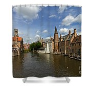 Quay Of The Rosary In Bruges Belgium Shower Curtain