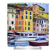 Quayside At Portofino Shower Curtain