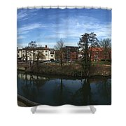 Quayside Oasis Park Panorama Shower Curtain