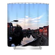 Quayside Strange Clouds Shower Curtain