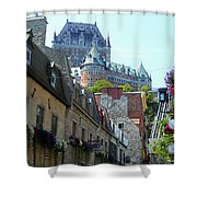 Quebec City 61 Shower Curtain
