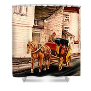 Quebec City Carriage Ride Shower Curtain