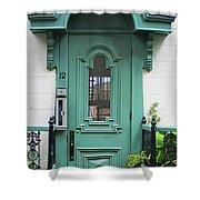 Quebec City Doors 3 Shower Curtain