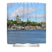 Quebec City Waterfront  6320 Shower Curtain
