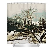 Quebec In January Shower Curtain