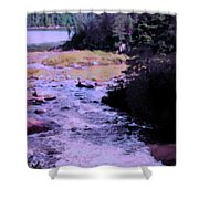 Quebec River Shower Curtain