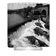 Quechee, Vermont - Falls 3 Bw Shower Curtain