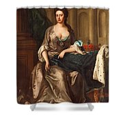Queen Anne Og England Represented  Shower Curtain