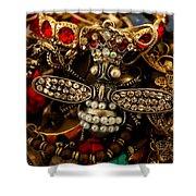 Queen Bee Shower Curtain by Susan Vineyard