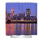 Queen City Aglow Shower Curtain