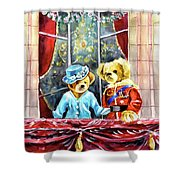 Queen Elizabeth And Prince Philip At Newby Hall Shower Curtain