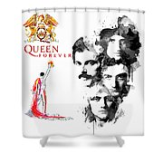 Queen Forever Remix II Shower Curtain