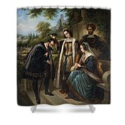 Queen Isabella And Columbus Henry Nelson Oneil Shower Curtain