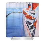 Queen Mary From The Bridge Shower Curtain