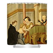 Queen Mary I Curing Subject With Royal Shower Curtain