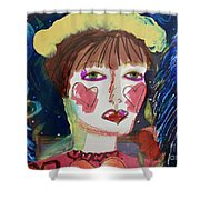 Queen Of Hearts Shower Curtain