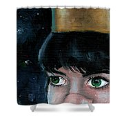 Queen Of Space Shower Curtain