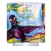 Queen Of The Crows Shower Curtain