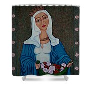 Queen St Isabel - The Miracle Of The Roses Shower Curtain